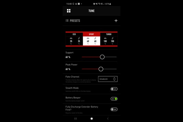 Specialized Mission Control app screenshot