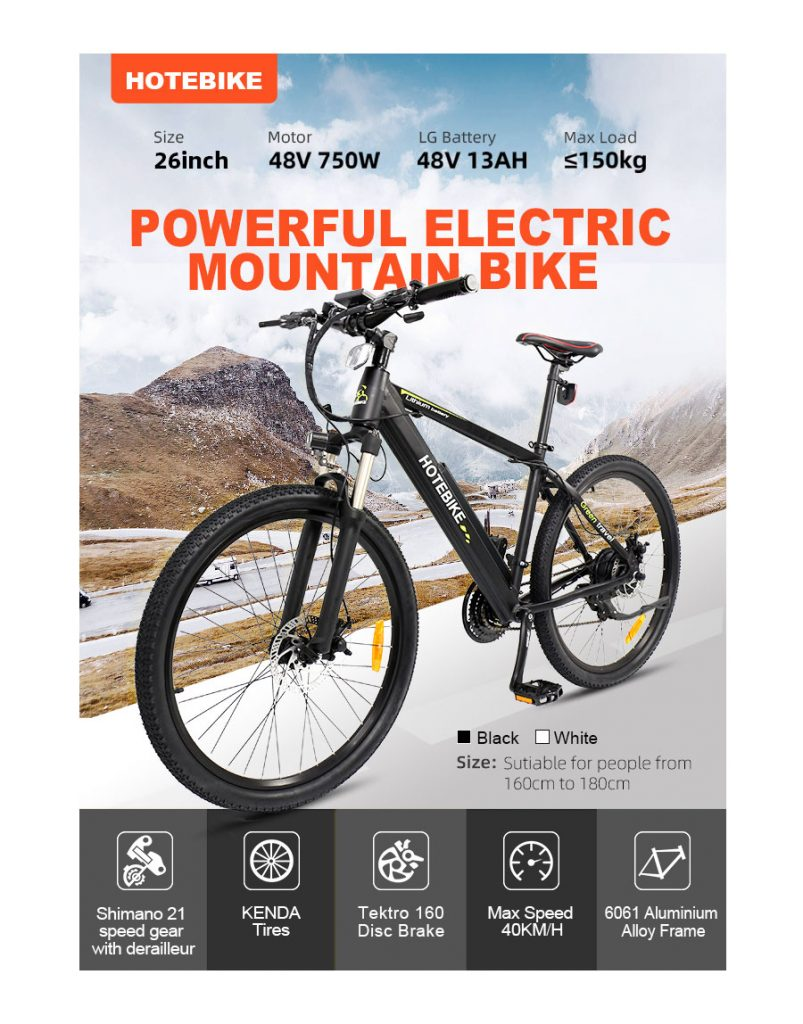 HOTEBIKE 750W A6AH26 Electric Bike