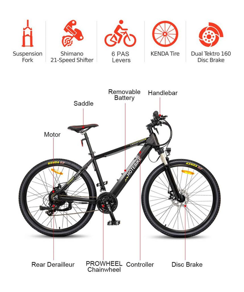 electric mountain bike design